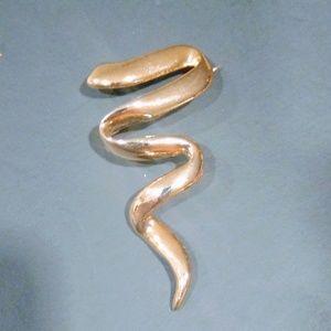 Goldtone Scribble Brooch